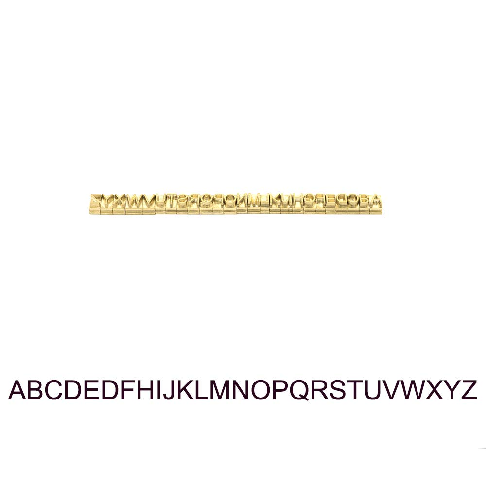 Custom Made Brass Alphabet Letter Changeable Mould Stamp Leather Craft Seal Tool 26pcs/Set (Capital Letters (A~Z), Arial Font)