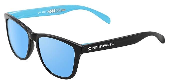 NORTHWEEK Marquez Gafas de sol, Black/Blue, 45 Unisex