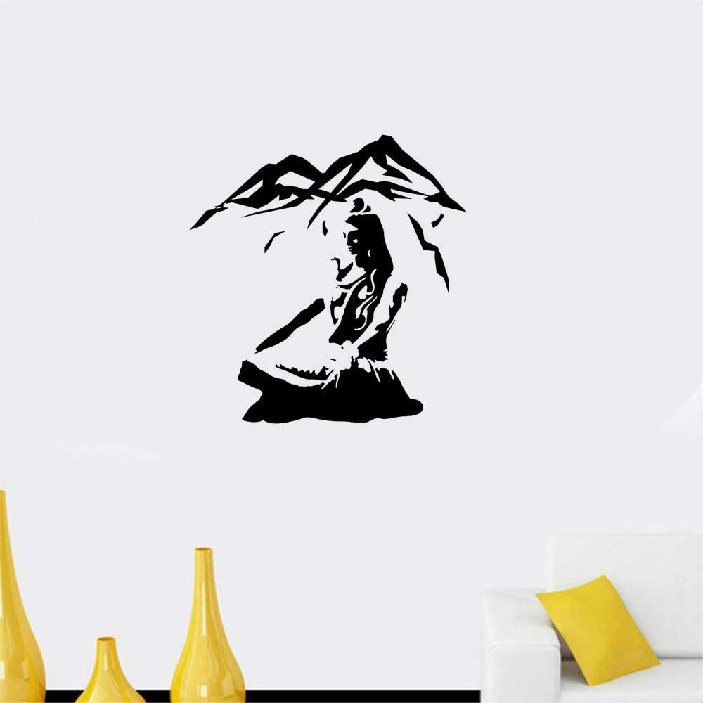 Vinly Art Decal Words Quotes Lord Shiva Yoga Lotus Pose Mountain Meditation Home Decoration Hindu God Art For Yoga Studio Amazon Co Uk Diy Tools