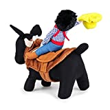 LUCKSTAR Funny Pet Christmas Costume, Novelty Pet Supplies Cowboy Rider Horse Riding Designed with Money Purse Outfit Apparel Christmas Dress Up Decoration Prop Gift for Cat Dog Puppy (L)