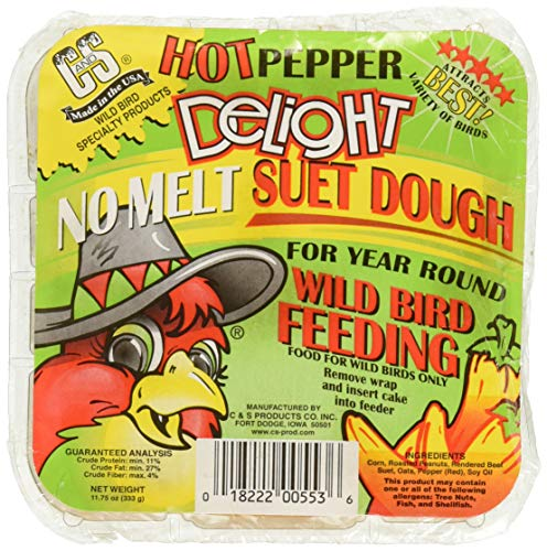CS Hot Pepper Delight Suet Dough Cake, 11.75 Ounce ()