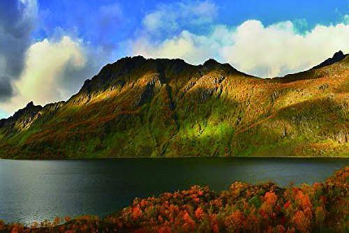 Nature Art Poster Print on Canvas - Panoramic landscape P-1000823