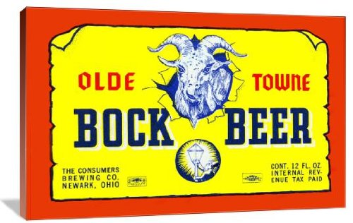 """Olde Towne Bock Beer 48"""" x 32"""" Gallery Wrapped Canvas Wall Art"""