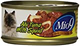 Mio9 Delicious Cat Food Ahi Tuna with Squid 3oz Can, 24-Pack