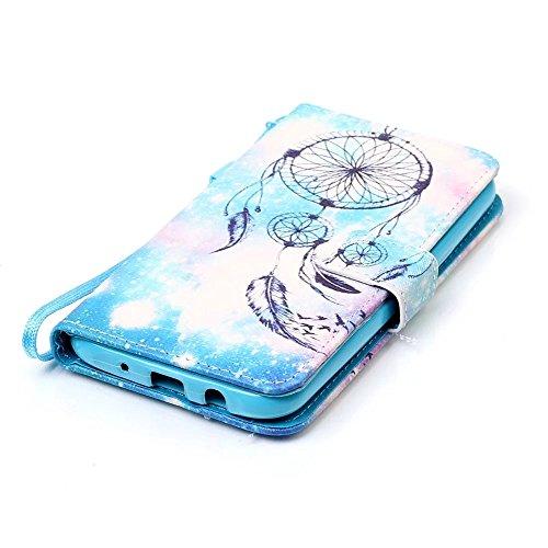 Samsung Galaxy J5 2015 Funda Cuero de la PU Correa de Cuello Relieve Billetera Carcasa, Vandot Magnético Folio Flip Caso Con titular de la tarjeta para J5 2016, Elegante Funda Tipo Libro [Embossed Flo Design 02