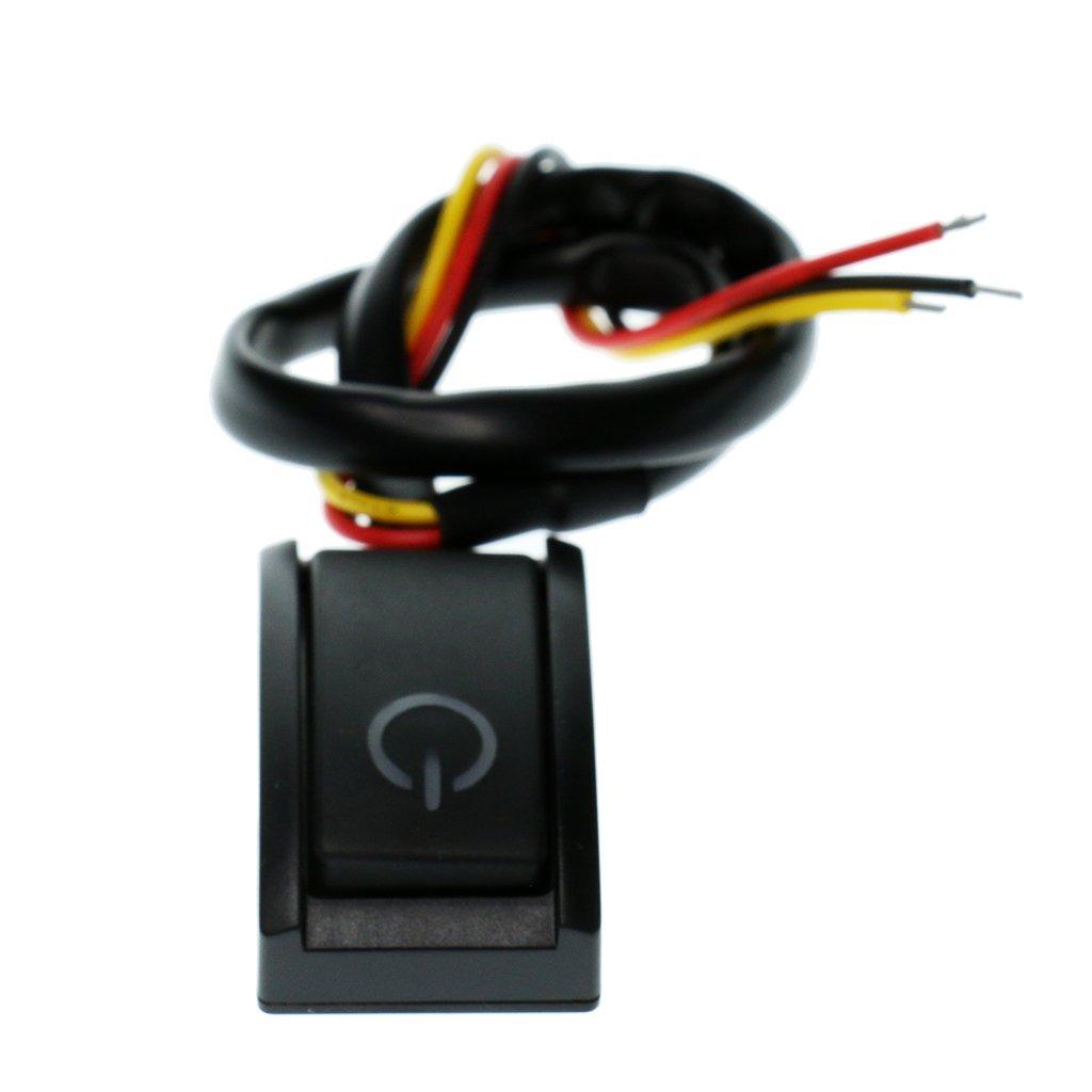 Homyl 1 x Mini-Schalter fü r Nachrü sten Universal Druckschalter Ein/Aus Schalter