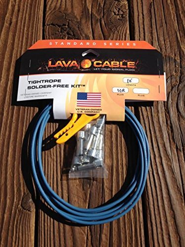 Lava Cable Tightrope Solder-Free Pedal-Board Kit Blue Cable / Nickel Connectors by Lava Cable