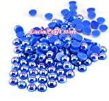 500pcs 5mm ABS Peals AB Half Round Pearl (Royal Blue)