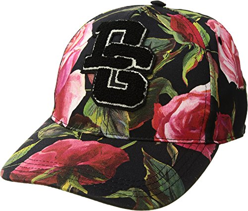 Dolce & Gabbana Men's Rose Print Baseball Cap Black Rose Print 58 (US MD)
