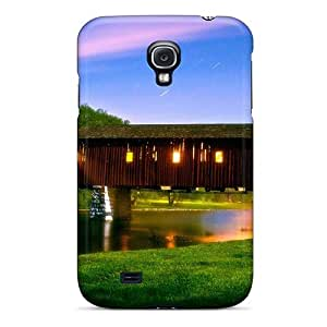 Galaxy S4 Cover Case - Eco-friendly Packaging(covered Bridge Under A Star Shower)