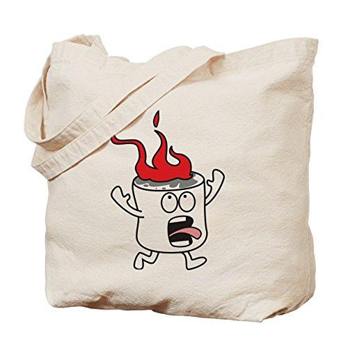 CafePress–Marshmallow–en llamas gamuza de bolsa de lona bolsa, bolsa de la compra