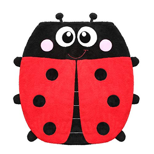 Ladybug Blanket for Kids, 2-in-1 Soft Plush Fleece Blanket Sleeping Bag Pocket Style Animal Plush Toy with 3D Animal Pattern for Sofa Bed Travel Sleepovers Outdoor Gifts for Kids 34 Inch X 36 Inch (Bag Ladybug Sleeping)