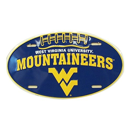 West Virginia WV Mountaineers Embossed Novelty Vanity Metal Oval License Plate Tag Sign - OV70019