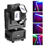 JUDYelc Professional Moving Head Light Mini Spider Stage Lamp 8x3W with RGBW 4 Color LED Light Disco Lights DMX512 Portable