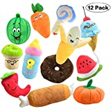 Plazenzon 12 Squeaky Dog Toys for Small Dogs Plush Dog Squeaky Toys Cute Puppy Pet Dog Toys for Boredom