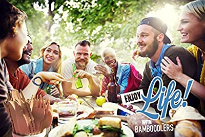 "Disposable Wooden Forks by Bamboodlers | 100% All-Natural, Eco-Friendly, Biodegradable, and Compostable - Because Earth is Awesome! Pack of 100-6.5"" Forks."
