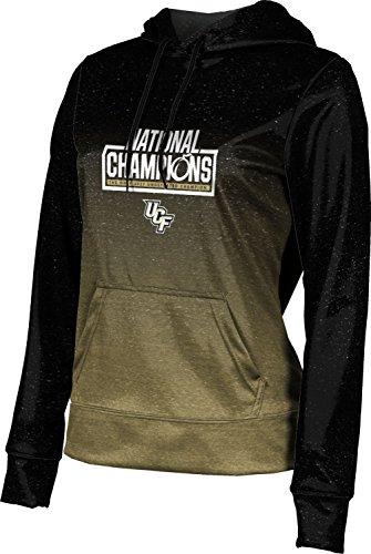 - UCF National Champions Women's Pullover Hoodie, School Spirit Sweatshirt (Ombre) FD071 Black and Gold