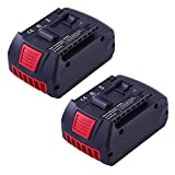 18V 4.0Ah Replace Battery for Bosch Lithium-ion BAT622 BAT620 BAT619G Bosch DDS181-02 Drill 2pack