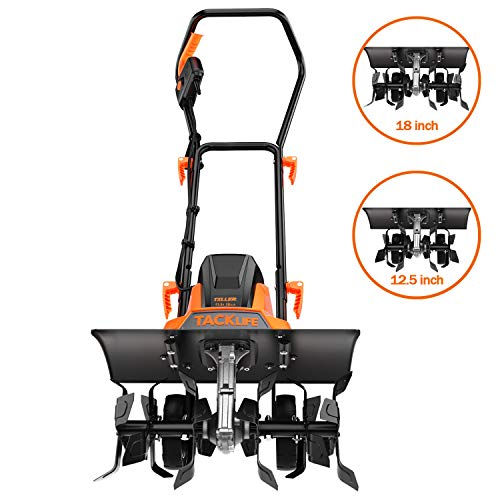 TACKLIFE Advanced Tiller 18-Inch