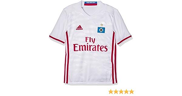 adidas Hamburger Home Jersey Youth Camiseta 1º equipación del Hamburgo SV, Niños, Blanco/Rojo, 15-16 años: Amazon.es: Ropa y accesorios