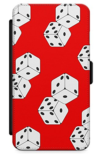 (iPhone 6 Case, iPhone 6s Case Lucky Dice Phone Case by Casechimp | Premium Leather Flip Wallet Card Holder Slots | Cute Tropical Fashion Cute Summer)