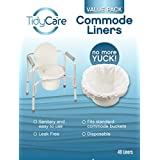 TidyCare Commode Liners – Value Pack - 48 commode liners