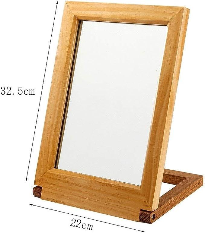 dormitorio y hotel horizontal y vertical Espejo de ba/ño ovalado espejo de decoraci/ón del hogar 52 * 83 cm // 20,5 * 32,7 pulgadas Espejo de maquillaje de aleaci/ón de aluminio para sala de estar