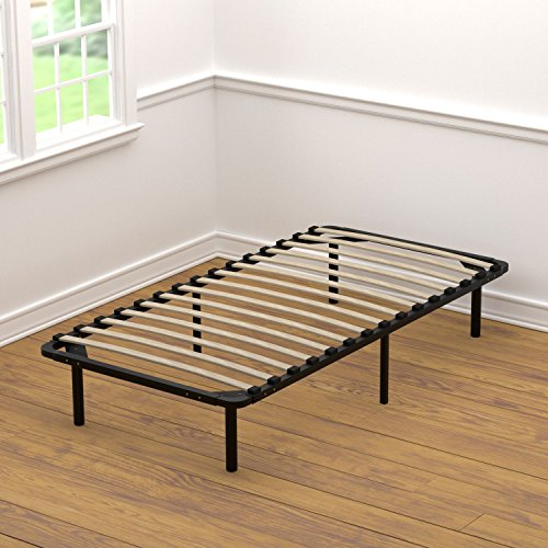 Handy Living Platform Bed Frame - Wooden Slat Mattress Foundation/Box Spring Replacement, Twin