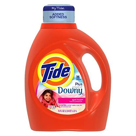 TIDE DETERGENT LIQUID LAUNDRY WITH DOWNY APRIL FRESH FABRIC SOFTENER 69 OZ BOTTLE