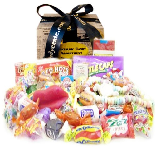 Newsprint Nostalgic Candy Gift Box