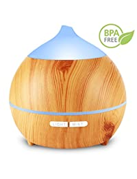 Essential Oil Diffuser,Holan 250ml Wood Grain Aromatherapy Diffuser Ultrasonic Aroma Diffuser Cool Mist Humidifier with Low Water Auto Shut-off, 7 Color LED for Office Home Bedroom Study Yoga Spa BOBEBE Online Baby Store From New York to Miami and Los Angeles