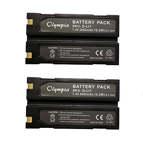 2 Pack of Trimble 54344 Battery - Replacement for Trimble TR-R8 GPS Battery (2600mAh, 7.4V, Li-Ion) ()