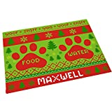 GiftsForYouNow Dog Christmas Personalized Pet Feeding Mat Review