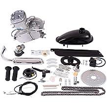 Goplus 80cc 2-Stroke Bicycle Gasoline Motorized Gas Engine Motor Kit (Silver)