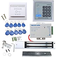 RFID Door Access Control System Kit, AGPtEK Home Security System with 280kg 620LB Electric Magnetic Lock 110-240V AC to…
