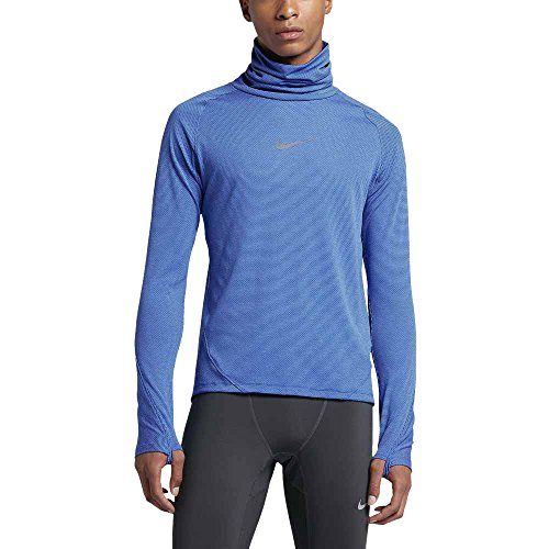 Nike Men's Dri-Fit Aeroreact Running Training Long Sleeve Shirt Blue 800651  480 (l)