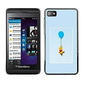 FlareStar Colour Printing Cute Bear Cartoon Character Drawing cáscara Funda Case Caso de plástico para Blackberry Z10