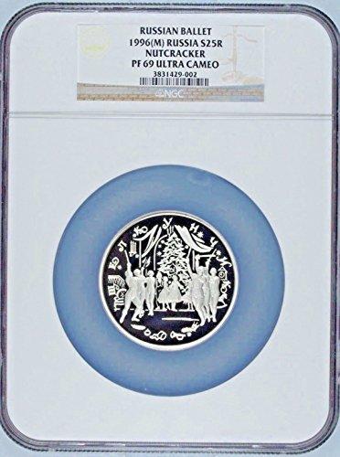 1996 RU Russia 1996 Silver Coin 25 Rubles Ballet Nutcrack coin PF 69 Ultra Cameo NGC