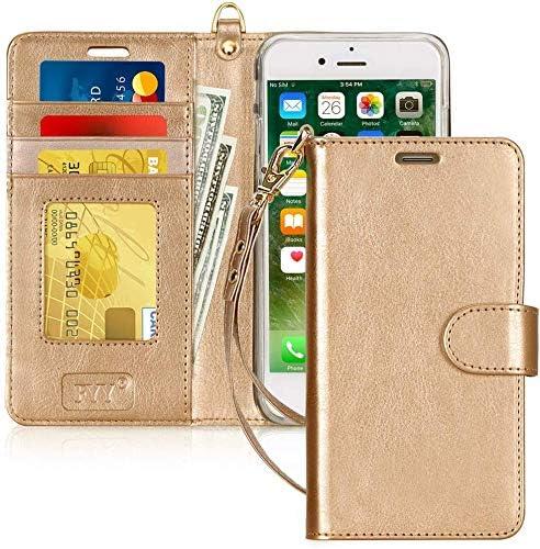 FYY Cover iPhone 8 Plus, Custodia iPhone 8 Plus, Cover iPhone 7 Plus, Flip Custodia Portafoglio Libro Pelle PU con Porta Carte e Chiusura Magnetica ...