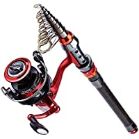 YONGZHI Fishing Poles with Spinning Reels Combos...