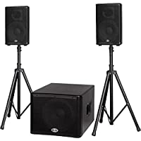 B-52 MATRIX-1500 1200-Watt 15 Sub & Two 10 2-Way Three Piece Active Speake..