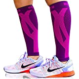 Compression Socks Women Calf Compression Sleeves For Men Leg Compression Socks for Runners, Shin Splint, Recovery from Injury & Pain Relief Great for Running, Maternity, Travel, Nurses Purple S-M