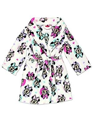 Minnie Mouse Girls Plush Fleece Bathrobe Robe (Toddler/Little Kid/Big Kid)
