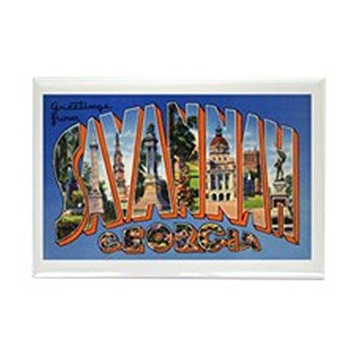 Georgia Ga Postcard (CafePress - Savannah Georgia Greetings - Rectangle Magnet, 2