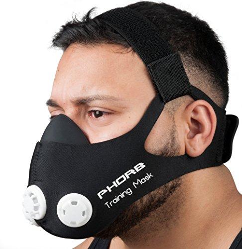 Phorb Máscara de entrenamiento, talla M, color negro, máscara respiratoria para Crossfit, aumenta la condición física: Amazon.es: Deportes y aire libre