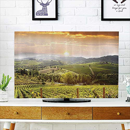 (L-QN Television Protector Hills of Chianti in Italy Florence Rome Bathroom Set Television Protector W25 x H45 INCH/TV 47