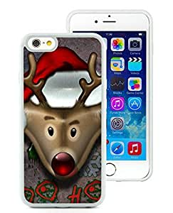 Customized iPhone 6 Case,Christmas Deer White iPhone 6 4.7 Inch TPU Case 4
