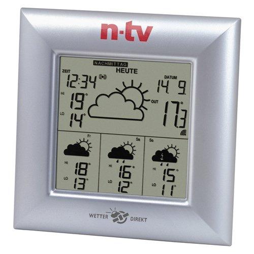 TV WetterDirektStation WD 4000 n-tv Silber Technoline n 2-teilig bestehend aus Station und Sensor
