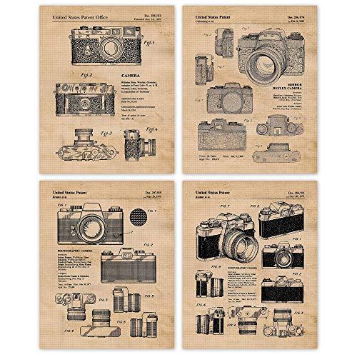 Unframed Photography Camera Set Of 3 Patent Prints Camera Poster Art Decor