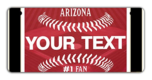 - BRGiftShop Personalize Your Own Baseball Team Arizona Motorcycle Golf Cart 4